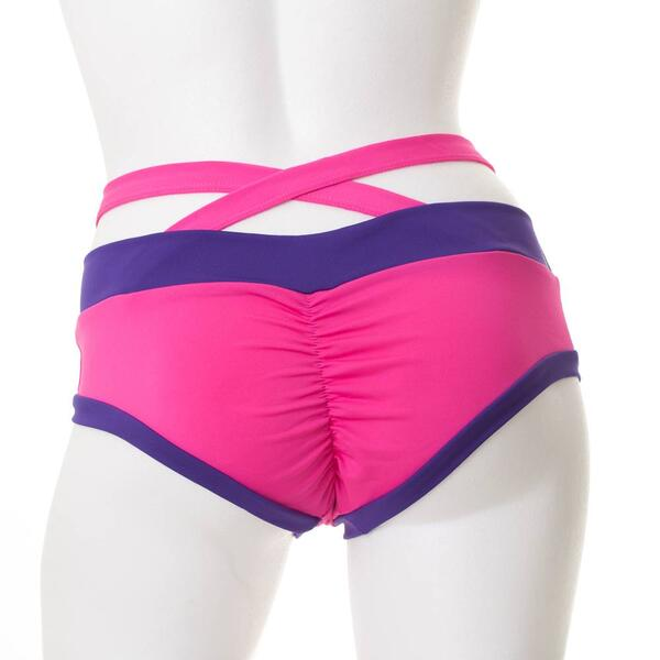Criss Cross Brazil Shorts PoleFit Hot Pink / Lila S