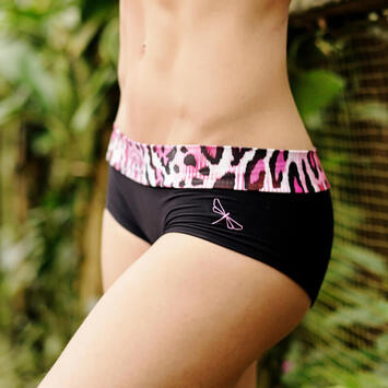 Hot Pants Pink Leopard Shorts Dragonfly