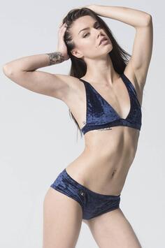Peru Velvet Shorts Navy Blue RAD