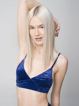 Monica Velvet Top Navy Blue RAD