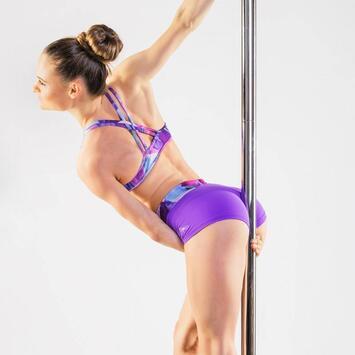 Mandy Aquarelle Violet Limited Shorts Dragonfly