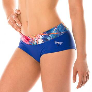 Hot Pants Aquarelle Blue Limited Shorts Dragonfly
