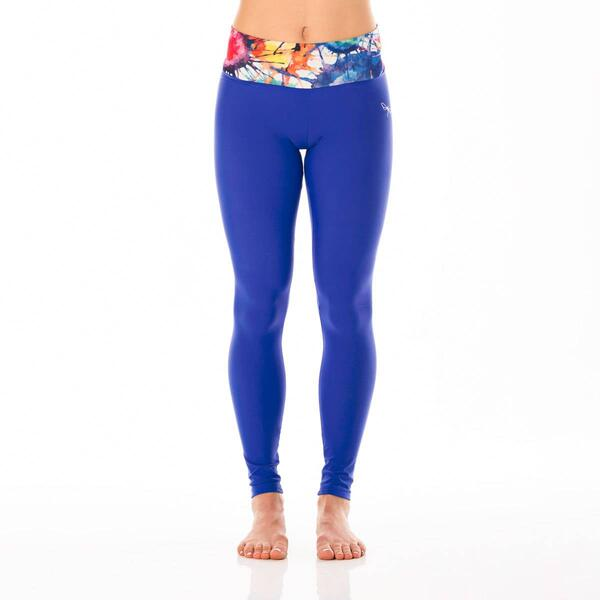 Adriana Aquarelle Blue Limited Leggings Dragonfly