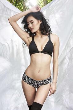 Zeta Low Waist Shorts Grey Leopard Luna