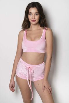 Playtime Shorts Velvet Baby Pink RAD